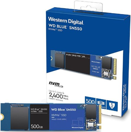 SSD 500GB NVME WD BLUE SN550 M.2 2280 WDS500G2B0C