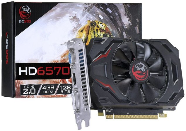 PLACA DE VÍDEO PCYES AMD RADEON HD 6570 4GB DDR3