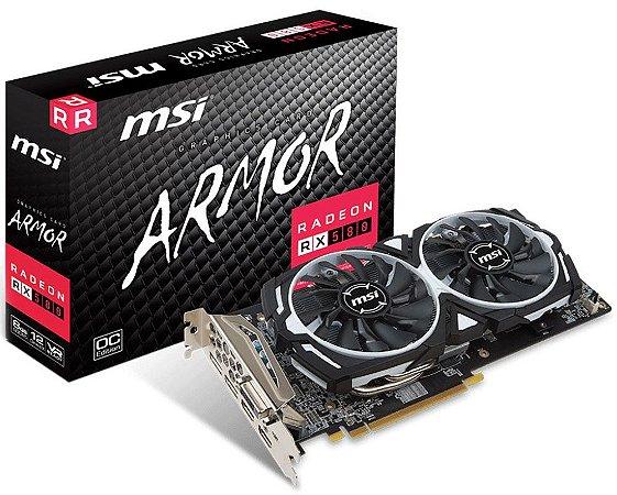 PLACA DE VÍDEO MSI ARMOR AMD RADEON RX 580 OC 8GB DDR5
