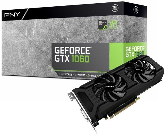 PLACA DE VÍDEO PNY GEFORCE GTX 1060 6GB DDR5