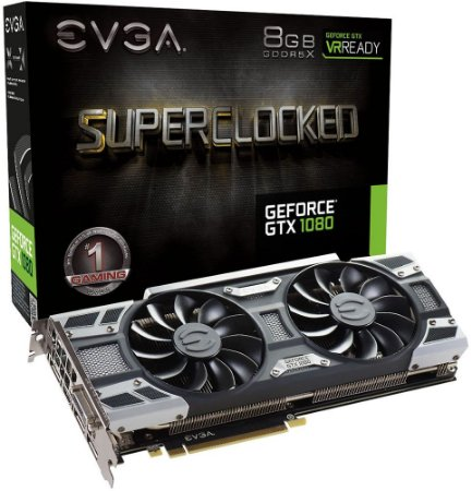 PLACA DE VÍDEO EVGA GEFORCE GTX 1080 SC 8GB DDR5 - SEMINOVA