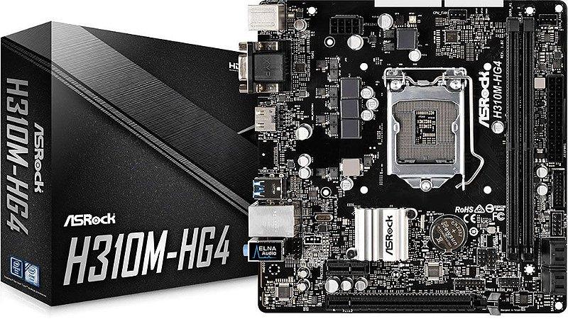 PLACA MÃE ASROCK H310M-HG4 DDR4 LGA1151