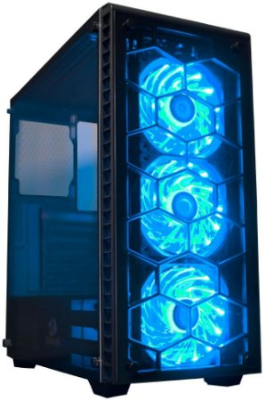 GABINETE REDRAGON DIAMOND STORM 3 COOLERS LED RGB CA903