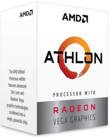PROCESSADOR AMD ATHLON 200GE 3.2GHZ 5MB CACHE VEGA GRAPHICS AM4