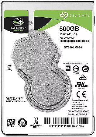 HD NOTEBOOK SEAGATE BARRACUDA 500GB 5400RPM ST500LM030