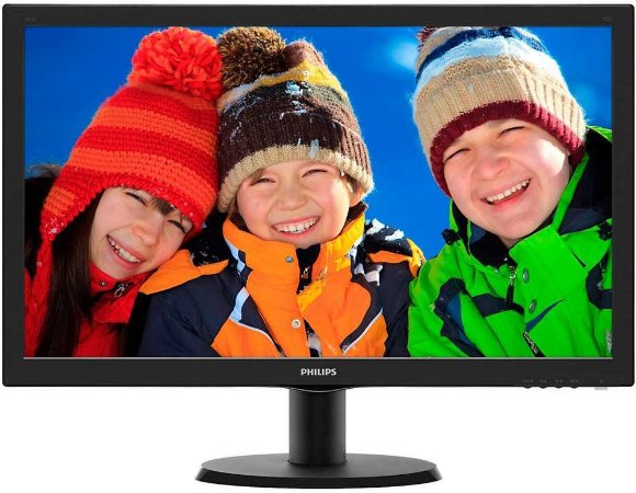 "MONITOR PHILIPS 23.6"" LED FULL HD HDMI/VGA/DVI 243V5QHABA"