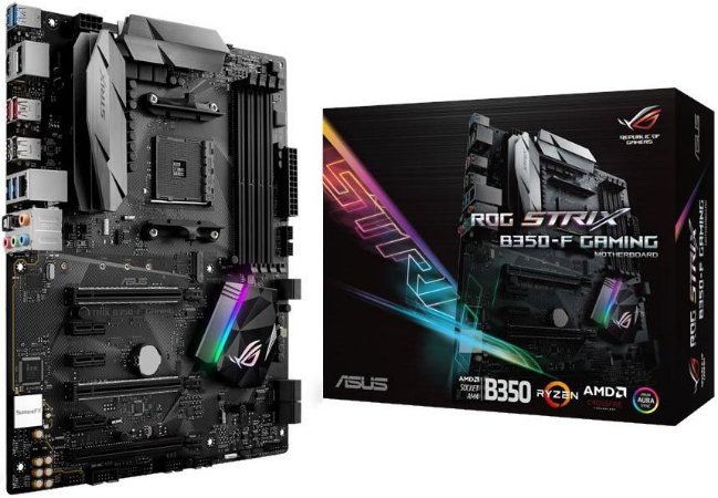 PLACA MÃE ASUS ROG STRIX B350-F GAMING DDR4 AM4