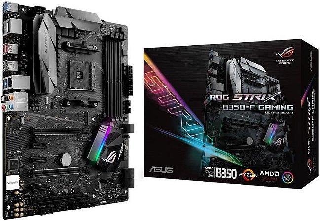 PLACA MÃE ASUS ROG STRIX B350-F GAMING DDR4 AM4