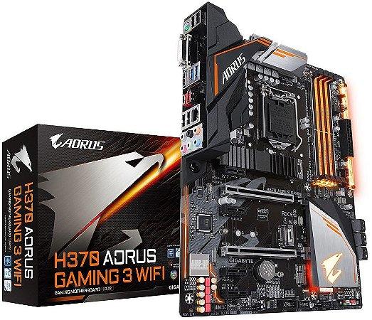 PLACA MÃE INTEL GIGABYTE H370 AORUS GAMING 3 WIFI DDR4 LGA1151