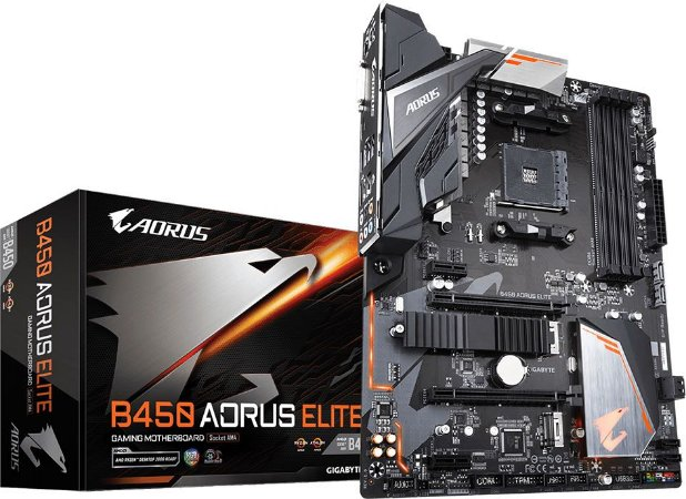 PLACA MÃE AMD GIGABYTE B450 AORUS ELITE DDR4 AM4