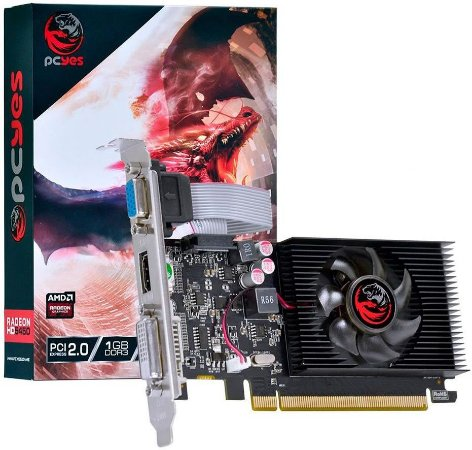 PLACA DE VÍDEO PCYES AMD RADEON HD 5450 1GB DDR3 64BITS
