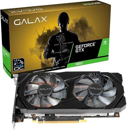 PLACA DE VÍDEO GALAX GEFORCE GTX 1660 1-CLICK OC 6GB GDDR5 192BITS