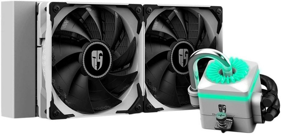 WATERCOOLER DEEPCOOL CAPTAIN 240X WHITE 240MM RGB DP-GS-H12-CT240XR-WH