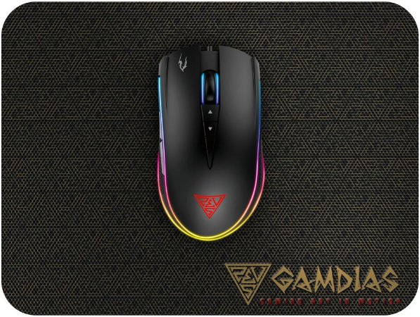 KIT GAMDIAS ZEUS M2 RGB 10800DPI + MOUSEPAD NYX E1 SPEED 240X180MM