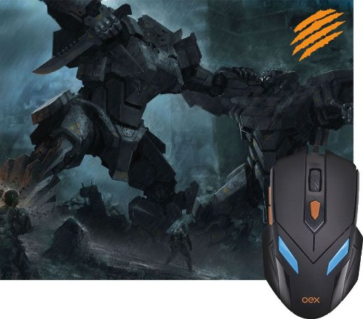 COMBO WAR OEX MOUSE 2400DPI + MOUSEPAD 290X230MM