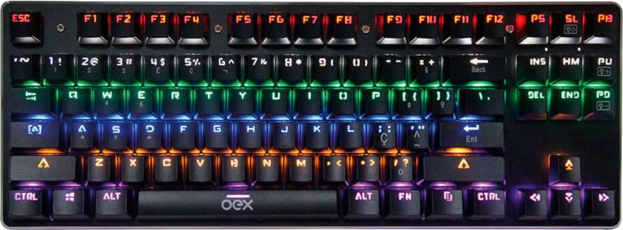 TECLADO MECÂNICO OEX SPECTRUM RGB SWITCH BLUE TC602