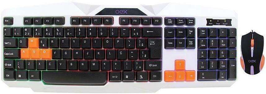KIT OEX COMBO ICE TECLADO + MOUSE 2400DPI TM300