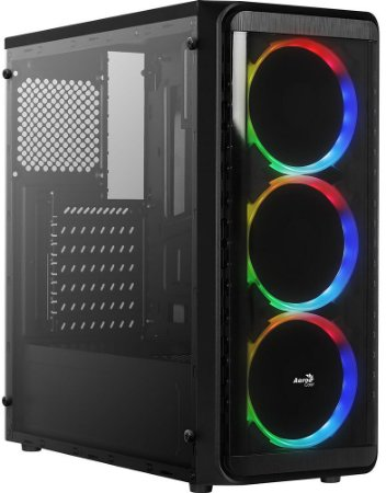 GABINETE AEROCOOL SI-5200 WINDOW RGB - 03 COOLERS INCLUSO