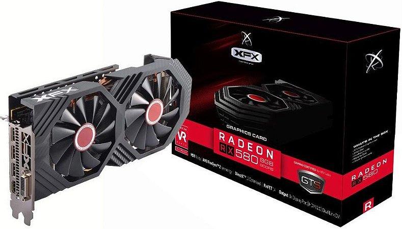 PLACA DE VÍDEO XFX AMD RADEON RX 580 8GB GTS GDDR5 256BITS