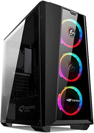 GABINETE C3TECH RGB MT-G800BK