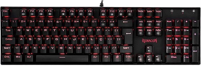 TECLADO MECÂNICO REDRAGON MITRA SWITCH BROWN K551