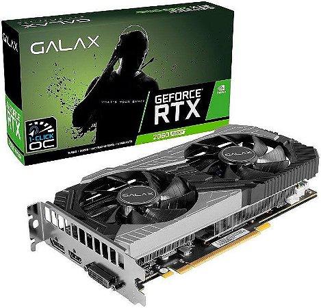 PLACA DE VÍDEO GALAX GEFORCE RTX 2060 SUPER  1-CLICK OC 8GB GDDR6 256BITS