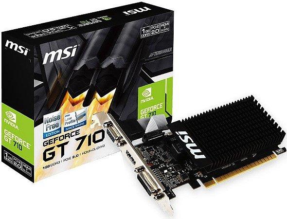 PLACA DE VÍDEO MSI GEFORCE GT 710 1GB DDR3 64BIT