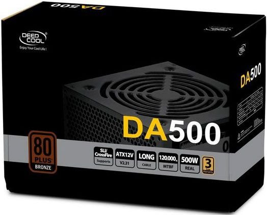 FONTE DEEPCOOL 500W 80PLUS BRONZE DA500 DP-BZ-DA500N