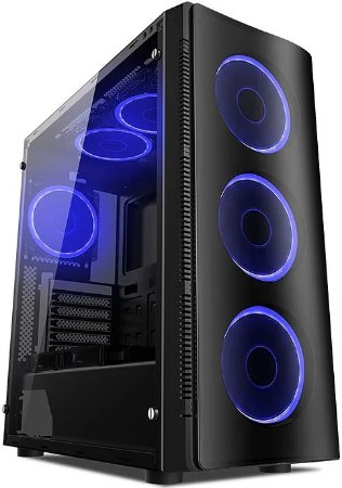 GABINETE LIKETEC W1 ARTIC BLUE GAMER - 04 COOLER INCLUSO