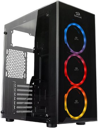 GABINETE REDRAGON THUNDER CRACKER GC-605 RGB - 03 COOLERS INCLUSO