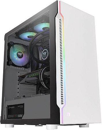GABINETE THERMALTAKE H200 TG RGB SNOW EDITION CA-1M3-00M6WN-00 - 01 COOLER INCLUSO