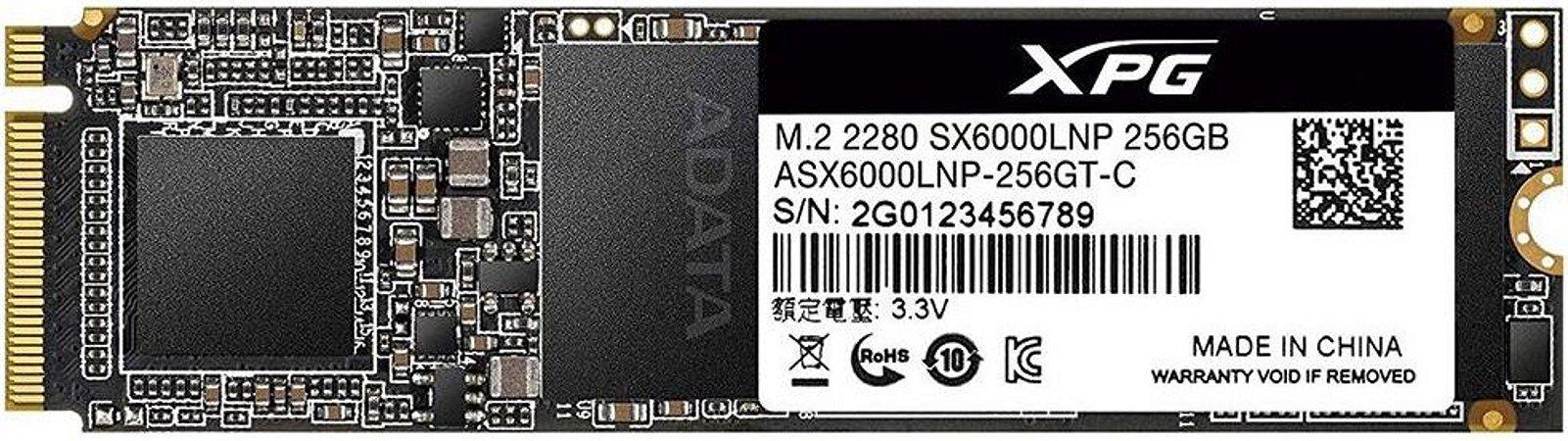 SSD ADATA 256GB XPG SX6000 LITE M.2 NVME ASX6000LNP-256GT-C