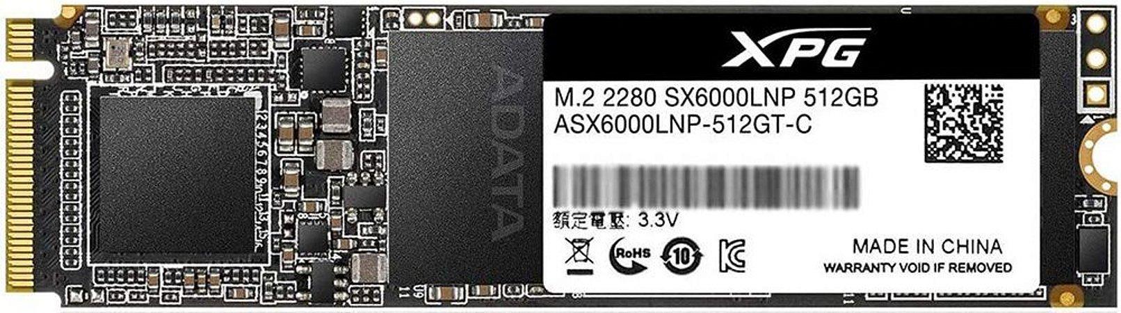 SSD ADATA 512GB XPG SX6000 LITE M.2 NVME ASX6000LNP-512GT-C