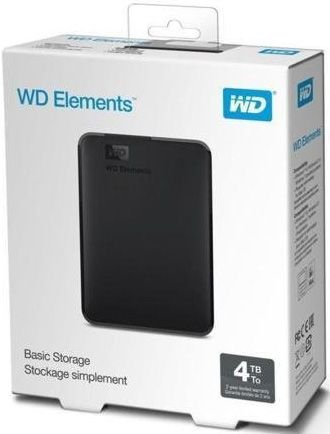 HD EXTERNO 4TB WD ELEMENTS USB 3.0 WDBU6Y0040BBK