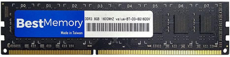 MEMÓRIA DESKTOP BEST MEMORY 8GB 1600MHZ DDR3