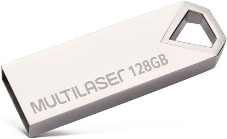 PENDRIVE MULTILASER 128GB DIAMOND USB 2.0 PD853