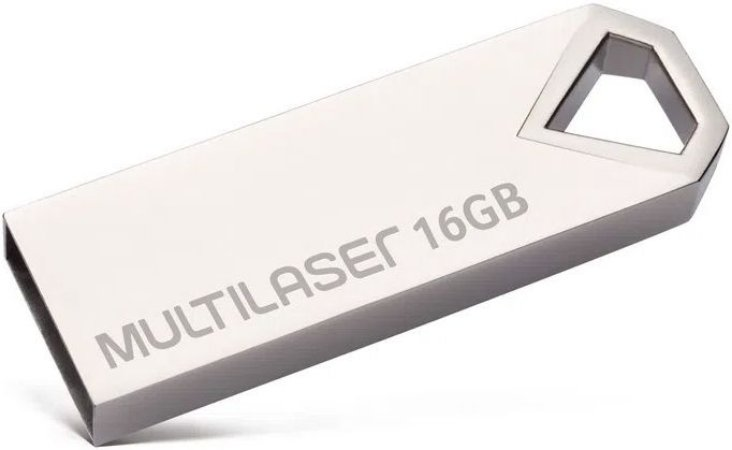 PENDRIVE MULTILASER 16GB DIAMOND USB 2.0 PD850