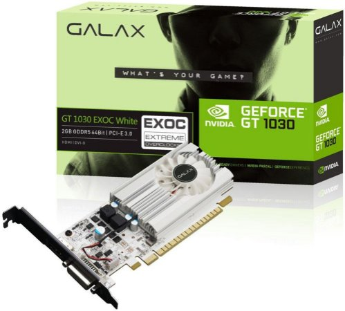 PLACA DE VÍDEO GALAX GEFORCE GT 1030 EXOC 2GB GDDR5 64BITS