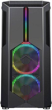 GABINETE REDRAGON GRINDOR RGB GC-616 - 02 COOLERS INCLUSO