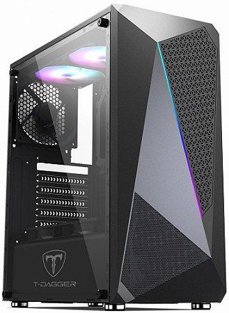 GABINETE T-DAGGER RGB TGC-G25B - SEM COOLERS