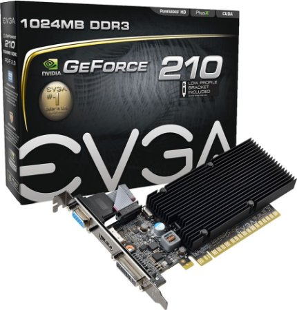 PLACA DE VÍDEO EVGA GEFORCE 210 1GB DDR3 64BITS