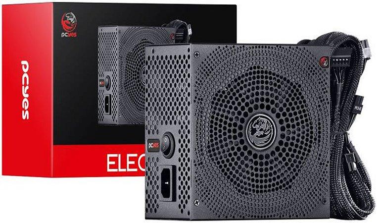 FONTE PCYES 600W ELECTRO V2 80PLUS WHITE ELV2WHPTO600W