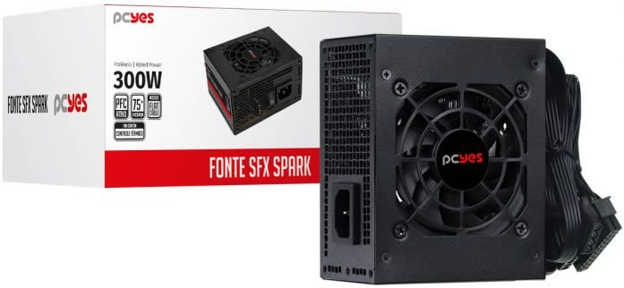 FONTE PCYES 300W SFX PARA GABINETE SLIM SPKP300MBPT