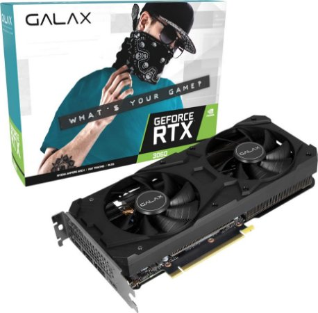 PLACA DE VÍDEO GALAX GEFORCE RTX 3060 12GB GDDR6 192BITS 1-CLICK OC