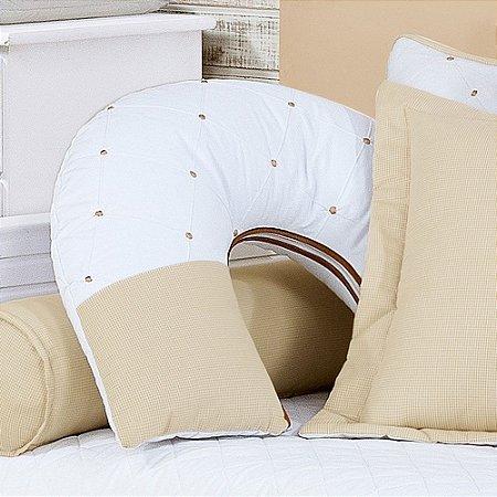 Almofada Amamentação TEDDY Nobre Luxo 100% Algodão