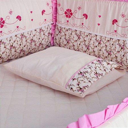 Travesseiro de Berço Baby Heloisa Rosa