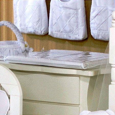 Trocador de Bebê com Espuma Bear Branco - Plastificado