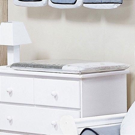 Trocador de Bebê com Espuma MINI COROA Luxo 100% Algodão - Plastificado