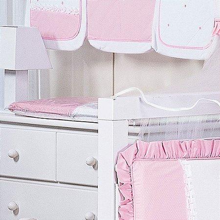 Trocador de Bebê com Espuma VALENCIA Luxo 100% Algodão - Plastificado