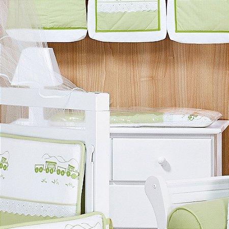 Trocador de Bebê com Espuma VERSALHES Luxo 100% Algodão - Plastificado